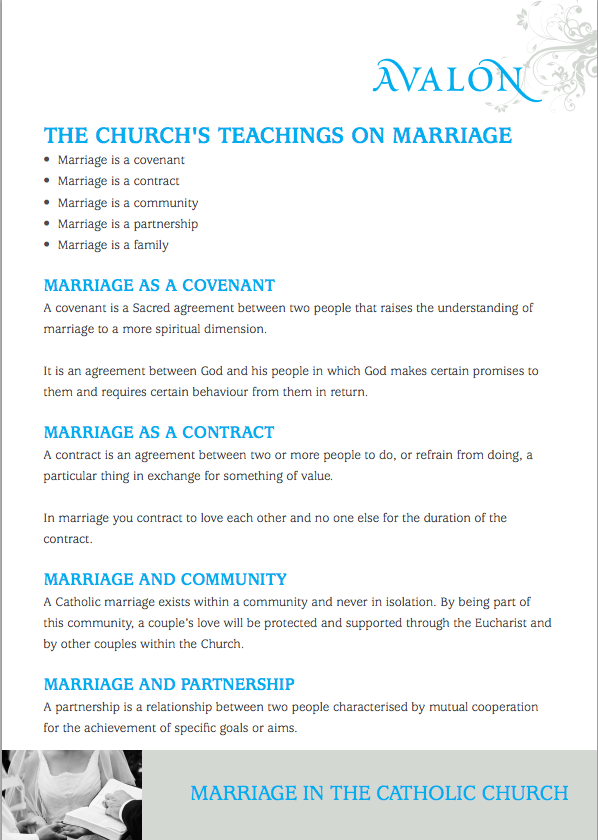 marriage catholic church Workbooks and PDFs